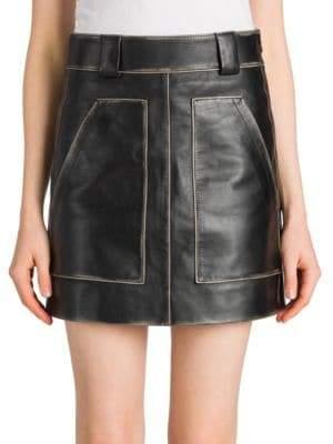 Prada Vintage Leather Mini Skirt