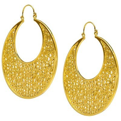Jules Smith Yellow Gold Vermeil Coral Hoop Earrings