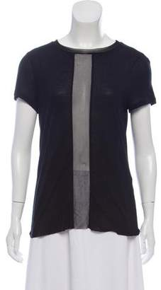 AllSaints Semi-Sheer Short Sleeve T-Shirt