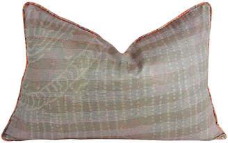 One Kings Lane Vintage Moss Silk Kantha Pillow