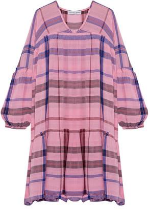 APIECE APART - Idina Wabi Printed Voile Mini Dress - Baby pink $325 thestylecure.com