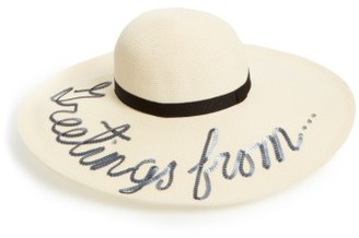 Women's Eugenia Kim Greetings From Hat - Ivory $475 thestylecure.com