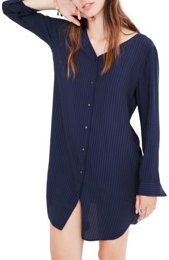 Women's Madewell Autumn Stripe Shift Dress