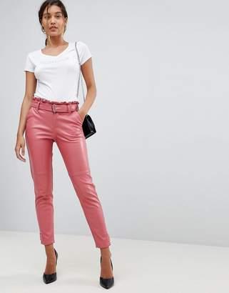 Morgan Pu Trouser With Frill Waist