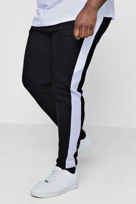boohoo Big And Tall Skinny Fit Colour Block Joggers