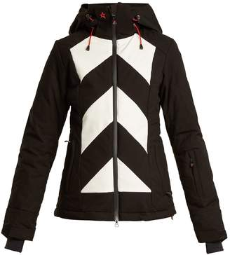 PERFECT MOMENT Tignes hooded chevron ski jacket
