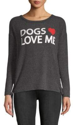 Chaser Dogs Love Me Dolman-Sleeve Pullover