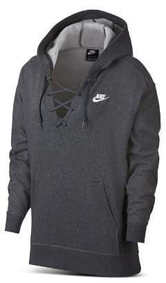 Nike Club Lace-Up Hooded Sweatshirt