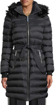 Burberry Detachable Shearling-Trim Down-Filled Puffer Coat