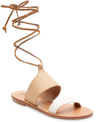 Soludos Leather Ankle-Strap Flat Sandal