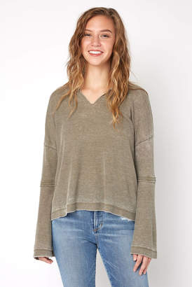 Parker White Crow Bell Sleeve Thermal Top