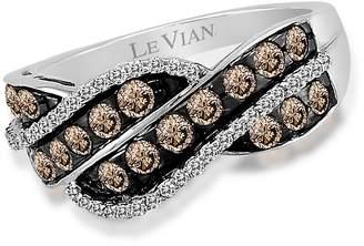 LeVian Le Vian Women's Chocolatier® Chocolate & Vanilla Diamond® Twist Ring