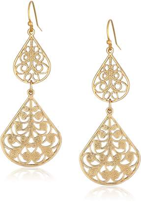 Michael Kors 1928 Jewelry Filigree Vine Double Drop Earrings
