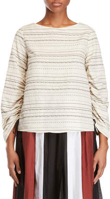 Alysi Ruched Long Sleeve Top