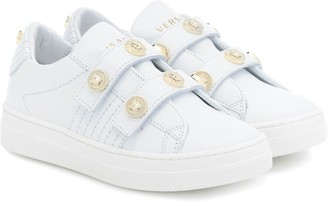 Versace Kids Medusa stud leather sneakers