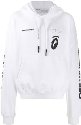 Off-White Off White splitted arrows over hoodie white black