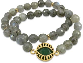 Electric Picks Labradorite & Jade All Eyes On Me Bracelets (Set of 2)