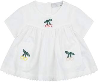 Stella McCartney Linen-Cotton Cherry Tunic Top