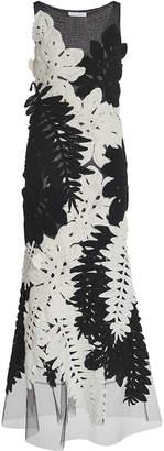 Oscar de la Renta Sleeveless Tea Length Gown