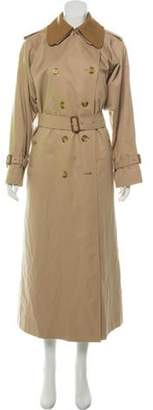 Burberry Nova Check-Lined Trench Coat Tan Nova Check-Lined Trench Coat