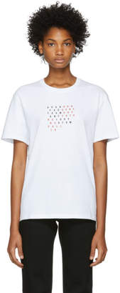 Raf Simons White Fall 18 Slim Fit T-Shirt