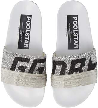 Golden Goose Glitter Poolstar Sport Slide