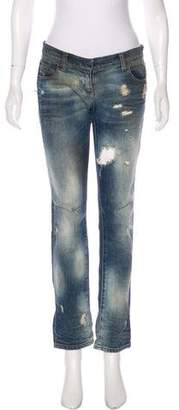 Balmain Low-Rise Distressed Jeans
