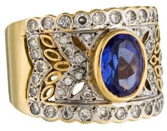 Le Vian 18K Tanzanite & Diamond Encore Cocktail Ring $995 thestylecure.com