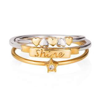 Lee Renee Shine Like A Star Hearts Stack Ring