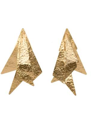 Natori Josie Goldplated Brass Geometric Earrings