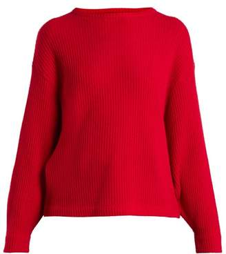 Allude Ribbed Knit Cashmere Sweater - Womens - Red ed2966abc34ff