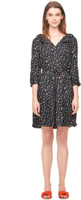 Rebecca Taylor Vine Print Silk Shirtdress