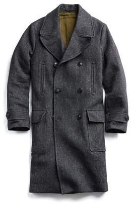 Todd Snyder Italian Wool Twill Officer Coat in Black