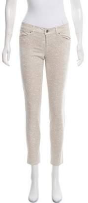 Ecru Mid-Rise Skinny Jeans