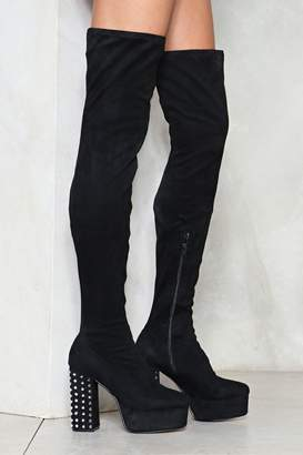 Nasty Gal Block Out the Haters Thigh-High Boot