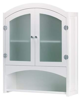 ACCENT PLUS Bathroom Wall Cabinet, Bathroom Furniture, Storage Cabinet, Wood, White