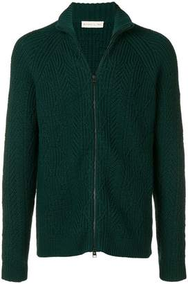 Etro textured zip cardigan