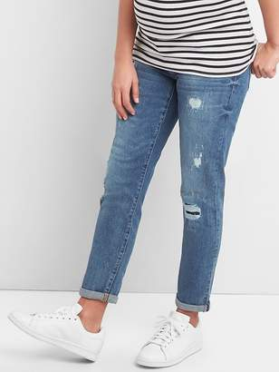 Gap Maternity Inset Panel Repaired Best Girlfriend Jeans