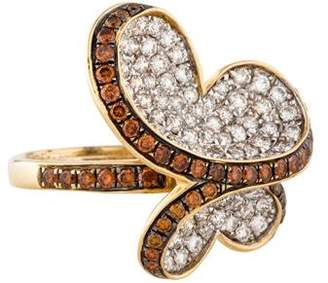 Ring 14K Diamond Butterfly Cocktail
