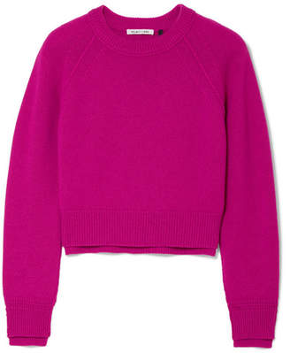 Helmut Lang Cropped Cashmere Sweater - Magenta