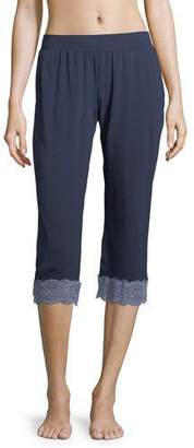 Cosabella Sonia Crop Lace-Trim Lounge Pants