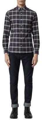 Burberry Men's George Check Button-Down Shirt