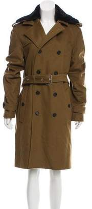 The Kooples Double-Breasted Knee-Length Coat