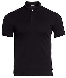 Emporio Armani Men's Textured Collar Slim-Fit Polo Shirt