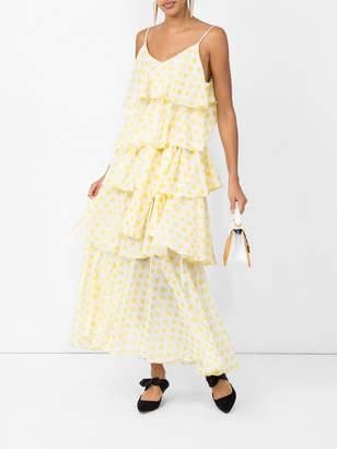 Lisa Marie Fernandez Imaan polka-dot tier dress