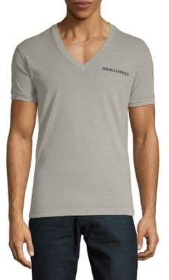 DSQUARED2 Logo V-Neck Cotton Tee