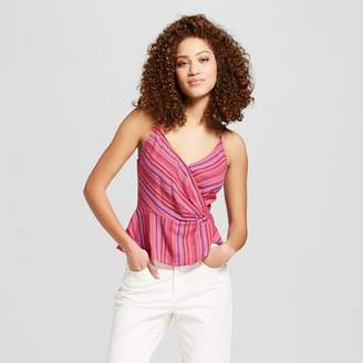 DAY Birger et Mikkelsen A New Women's Striped Sleeveless Wrap Front Cami - A New Pink