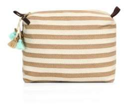 JADEtribe Valerie Large Stripe Cosmetic Case