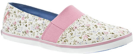 Babycham Ditsy Floral Elastic Trainers