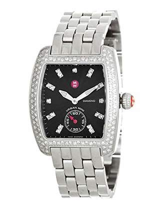 Michele Woman's MWW02A000403 Urban Mini Analog Display Swiss Quartz Silver Watch